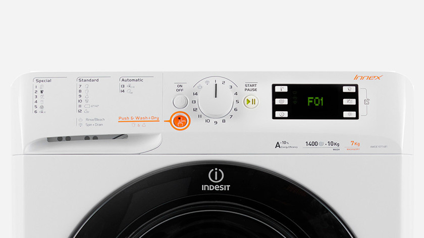 Indesit washing machine error F01
