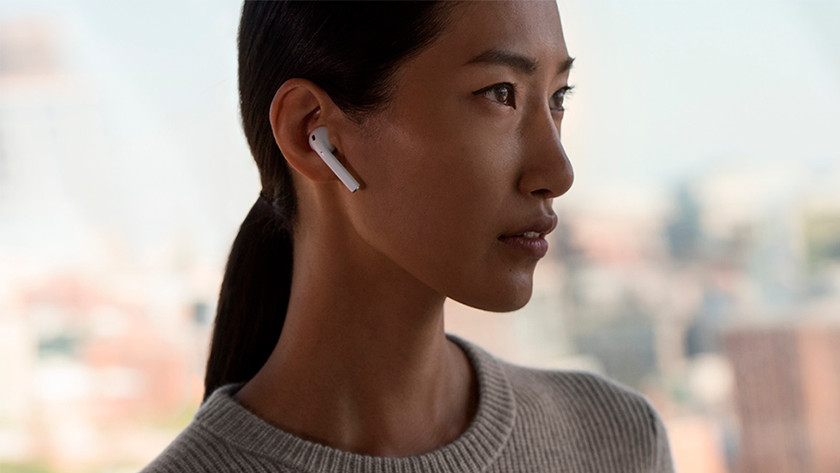 AirPods 2 in use