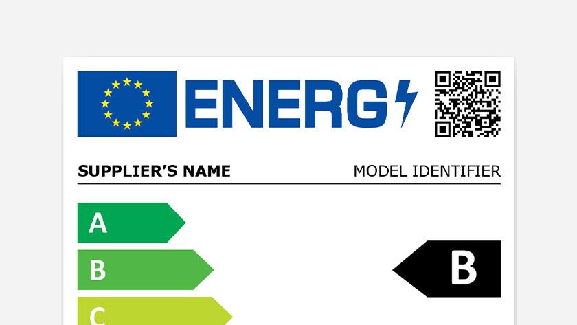QR code op nieuw energielabel wasmachines