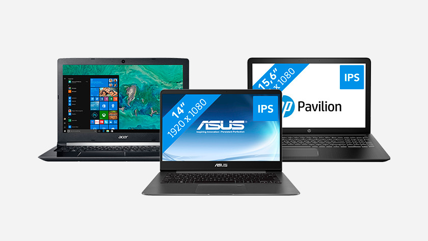 Acer, Asus, and HP laptop.