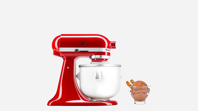 KitchenAid with ice cream maker mixing bowl