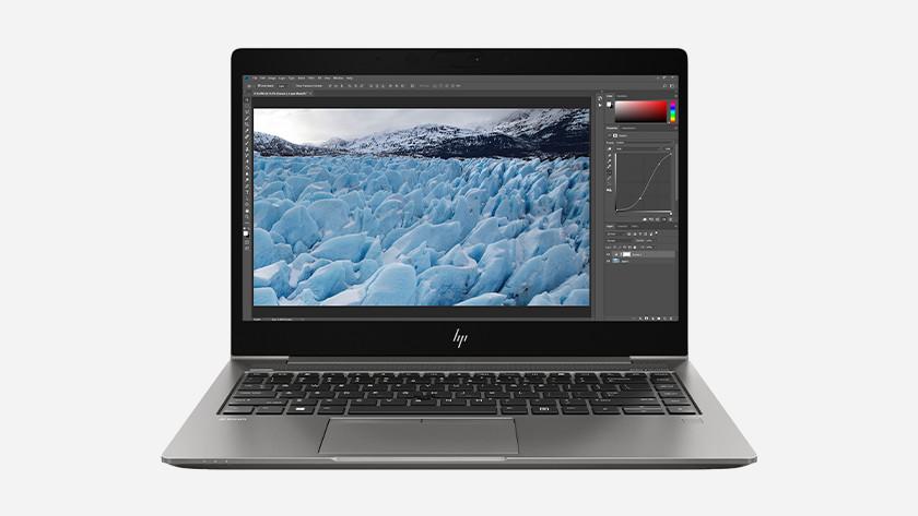 Een hp workstation laptop.