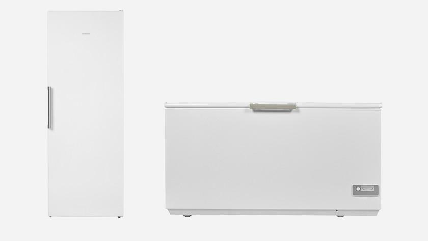 Large upright freezer and large chest freezer