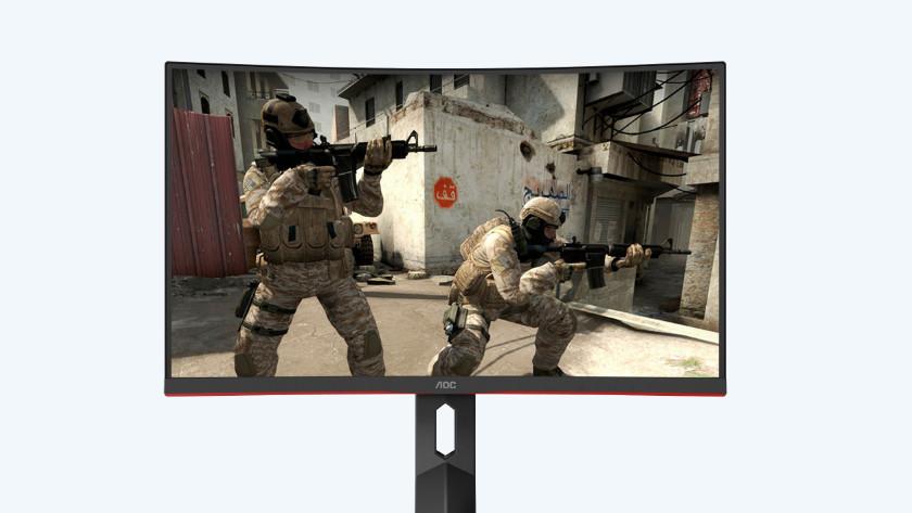 Shooter op de 24 inch gaming monitor van AOC