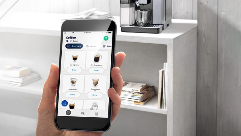 Volautomatische koffiemachine app