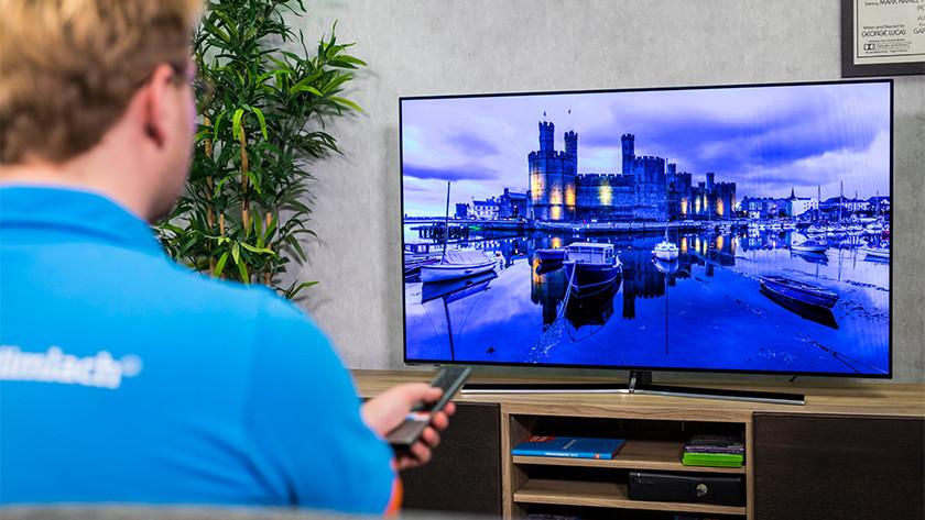 Zwartwaarden en contrast van de Hisense H55O8B OLED tv