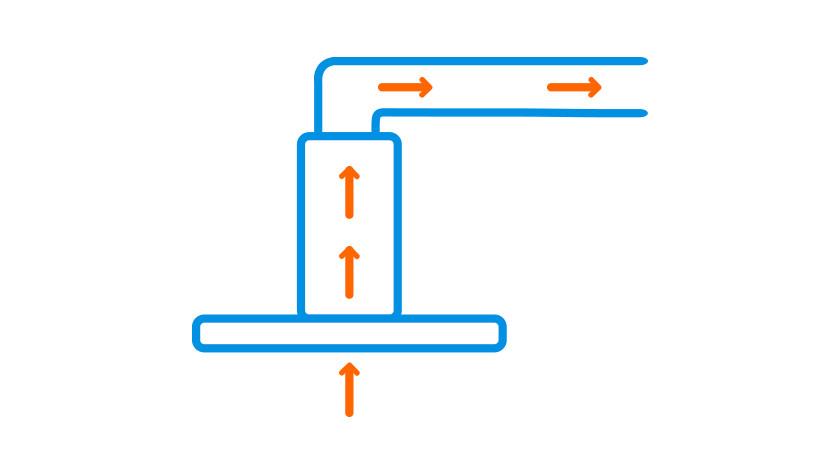 Range hood for ventilation system