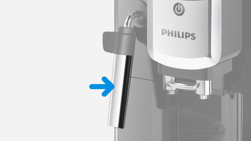 Philips 5000 EP5310/10 stoompijpje reinigen na gebruik