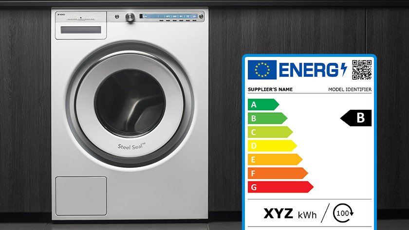 Energy label washing machine