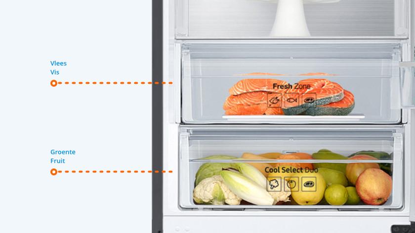 Onder in de koelkast