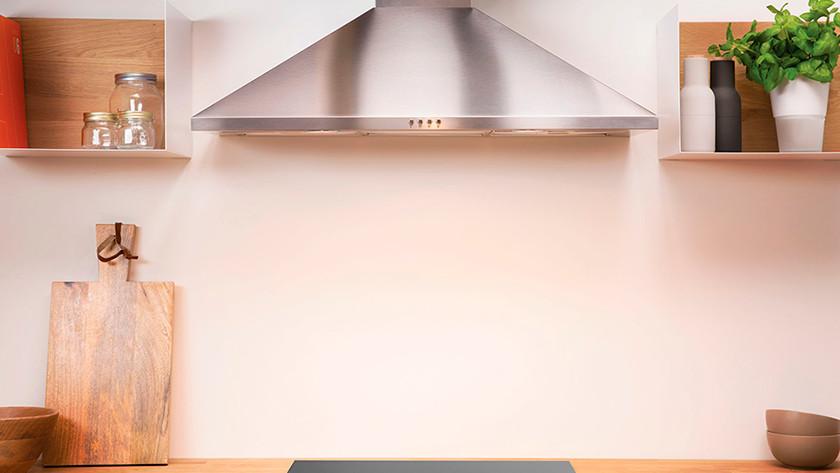 Wall-mounted range hood kitchen
