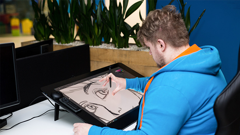 Ease of use in use magnified touch screen screen function Wacom Cintiq Pro
