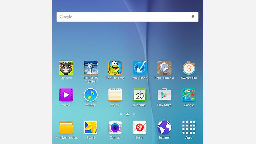 Samsung homescreen