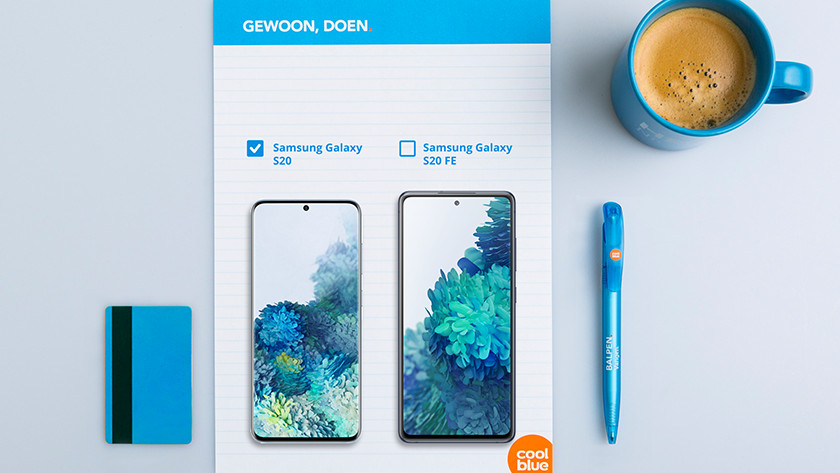 Samsung Galaxy S20 vs S20 FE size