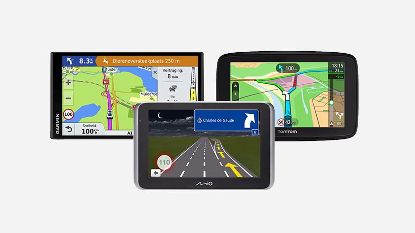 Autonavigatiesystemen Garmin, Mio en TomTom
