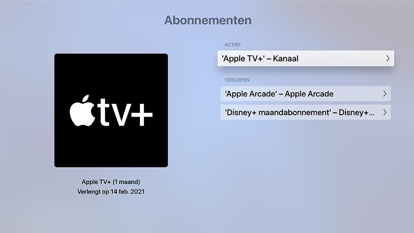 Tik op 'Apple TV+' - Kanaal