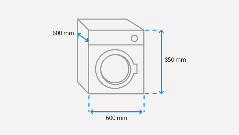 Super Wat zijn de afmetingen van een wasmachine? - Coolblue - Voor 23.59 IZ28