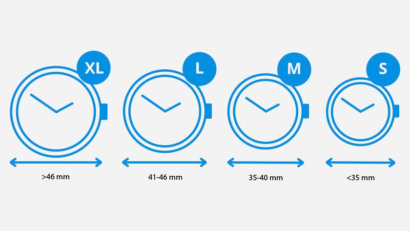 Watch sizes