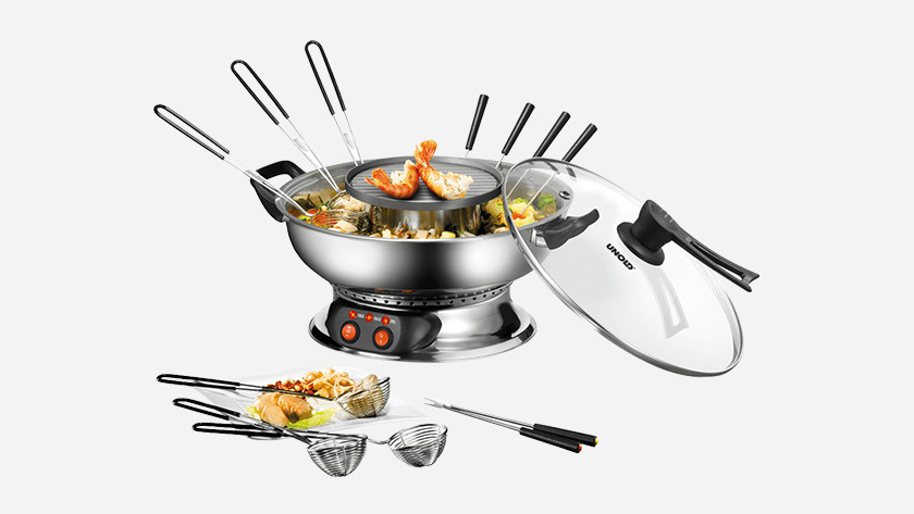 Chinese fondue set with griddle