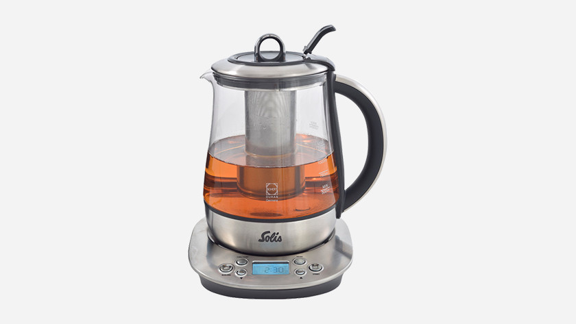 Waterkoker waarin je direct thee maakt