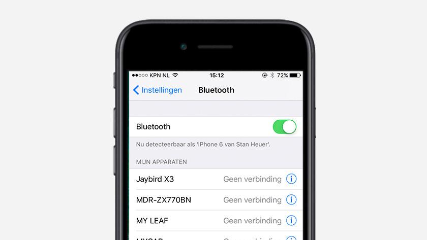 Stap 3: zet Bluetooth aan