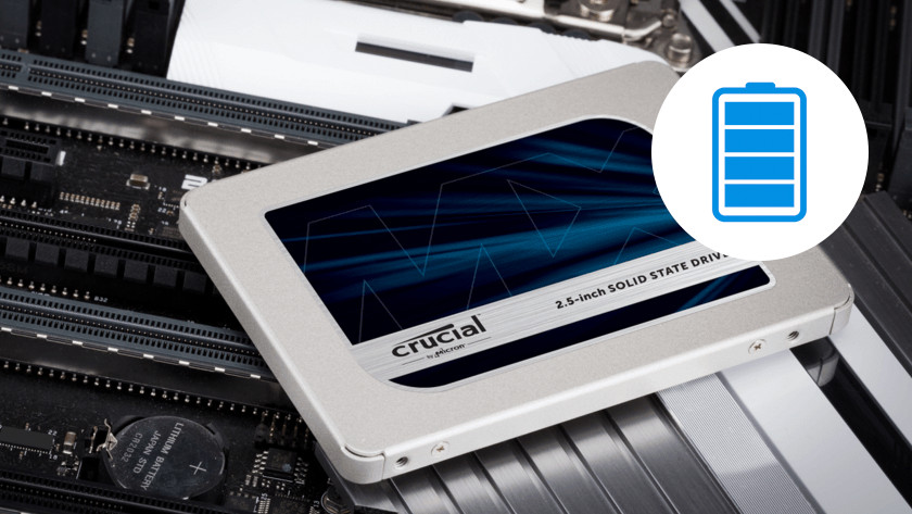 An SSD with full battery icon.