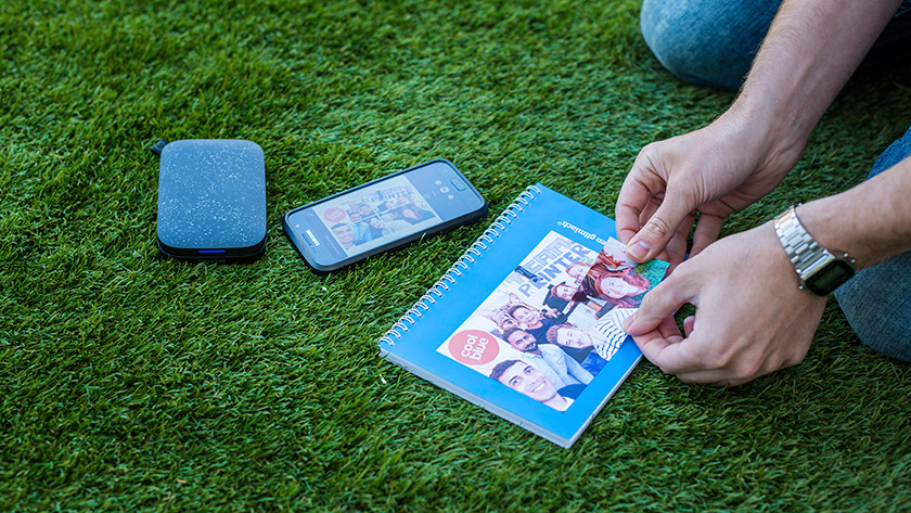 Pocket printer met foto stickers