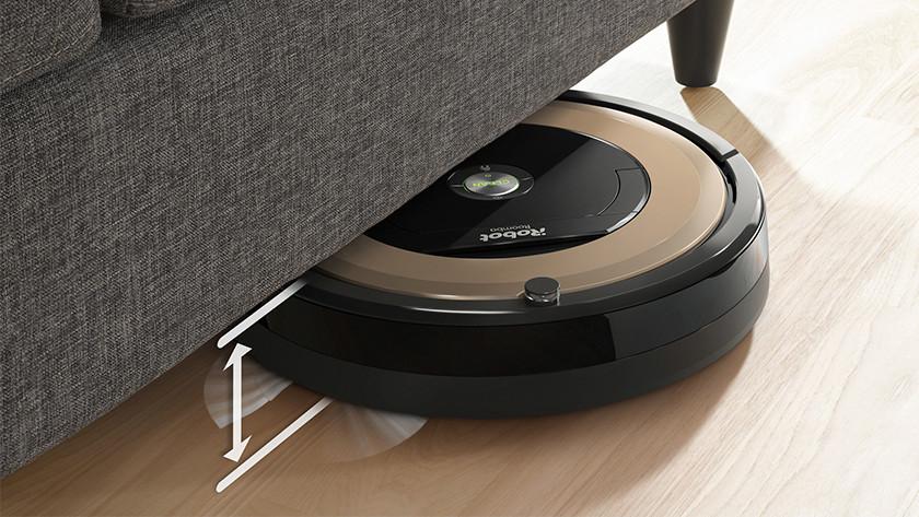 Robotstofzuiger kan onder meubels