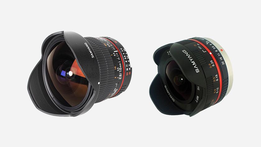 Types of fisheye lenses