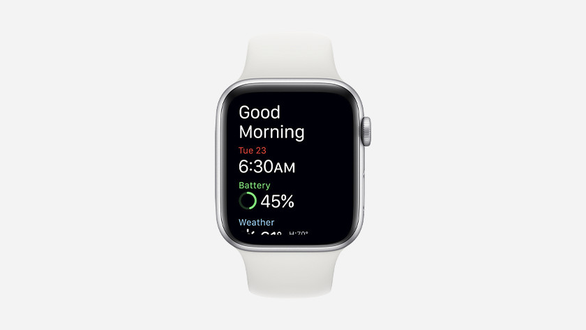 At the start of the day, Siri wishes you a good morning and you get insight into your sleep statistics.