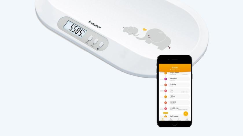 Babyweegschaal met app