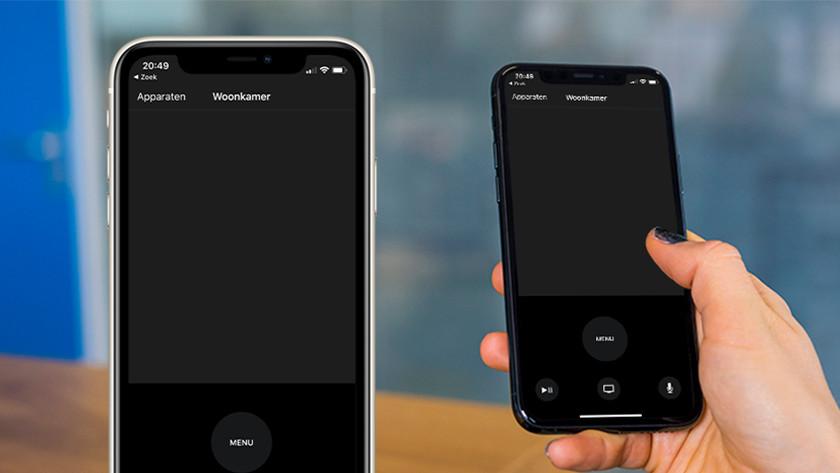 Bedienen met Remote app op iPhone of iPad