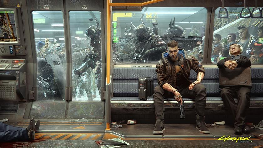 Cyberpunk 2077 setting.