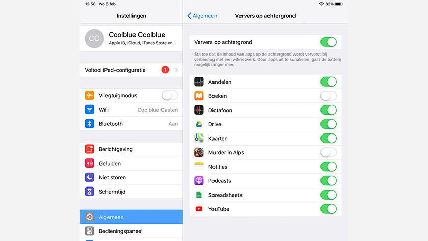 Ververs op achtergrond iOS
