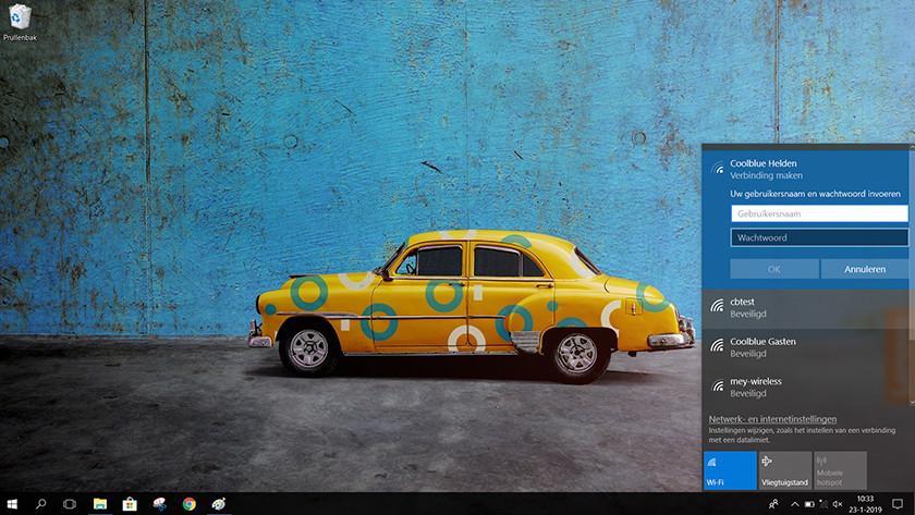 Afbeelding van wifi menu in windows 10 voor het aansluiten van je wifi netwerk