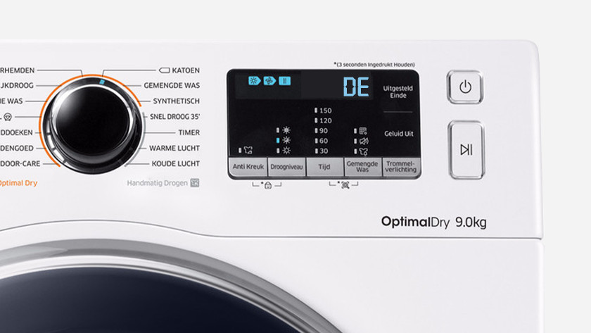 Samsung dryer error dE or dF