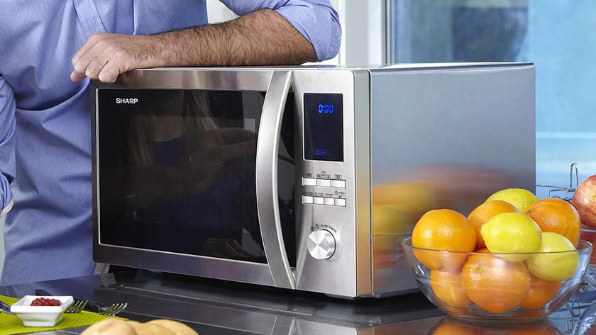 Freestanding combi microwave