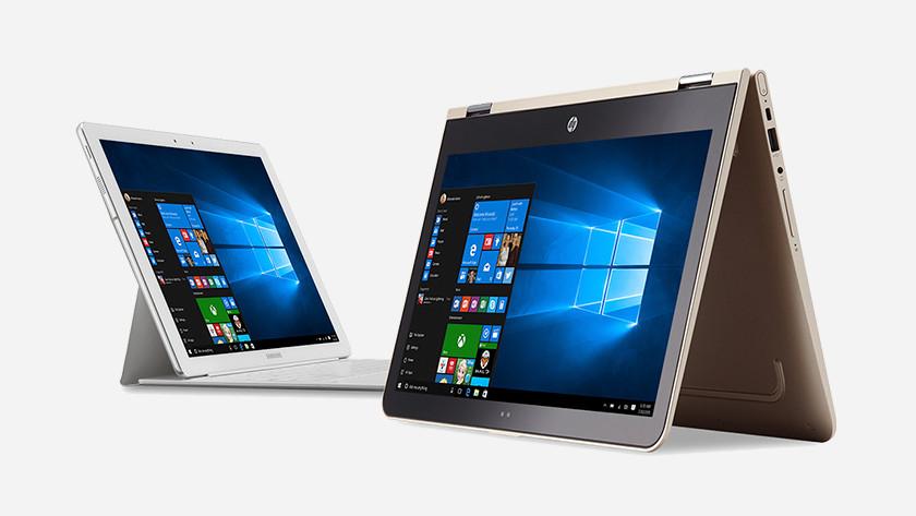 2 Windows 10 2-in-1 laptops.