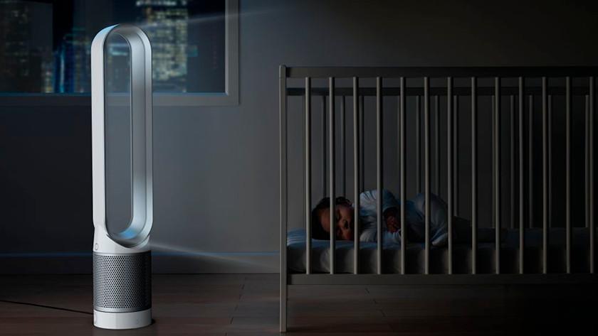 Dyson hava temizleyici yatak odası