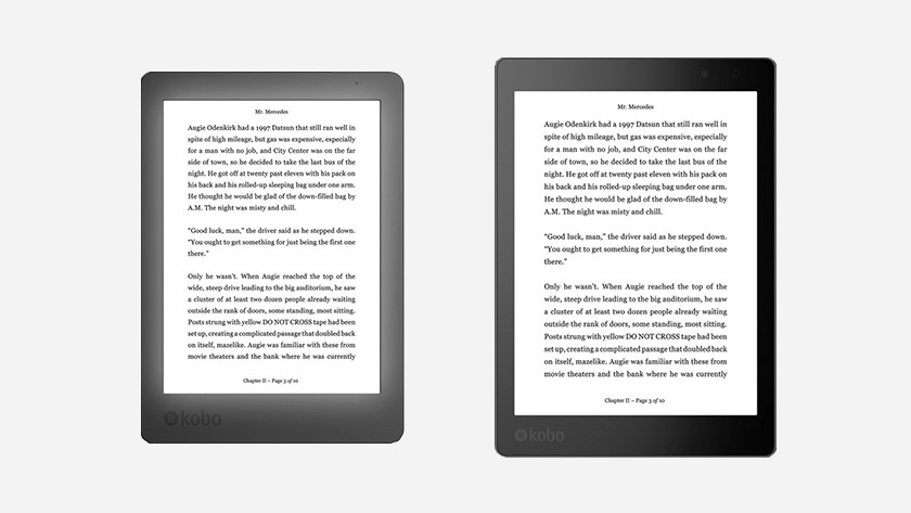 Compare the old and new Kobo H2O - Coolblue - Before 23:59