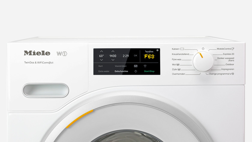 Miele wasmachine storing F63