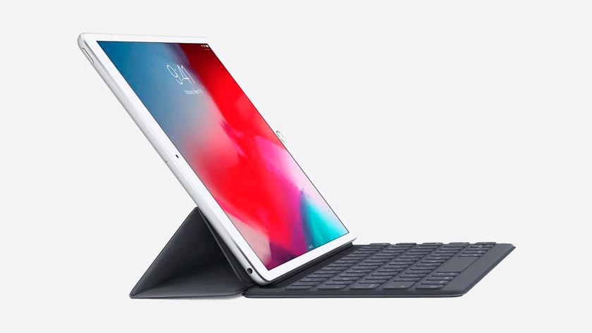 Apple iPad met Smart Keyboard startklaar