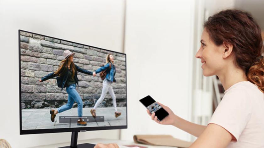 Bedien je smart monitor met je smartphone