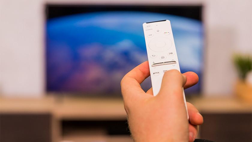 One Remote Control afstandsbediening van de Samsung The Frame 32 inch tv