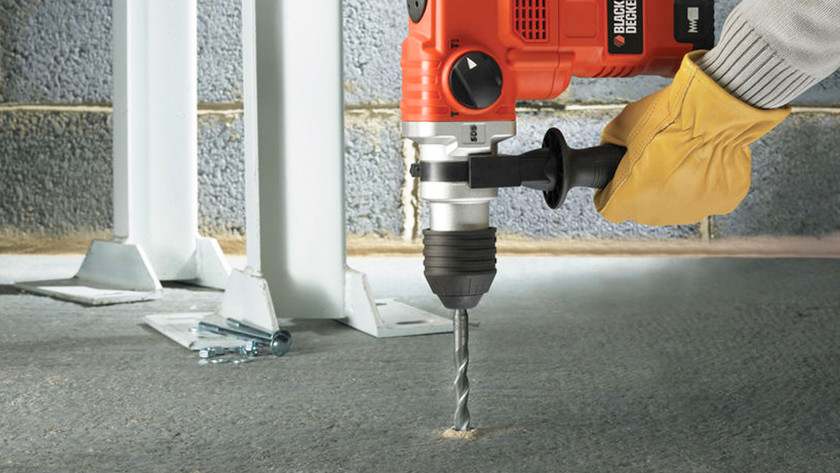 Drilling concrete flooring