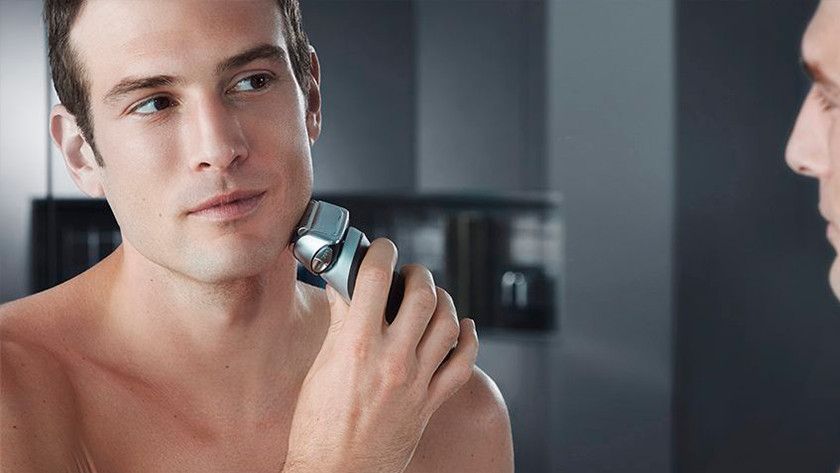 Shaving with a Braun shaver