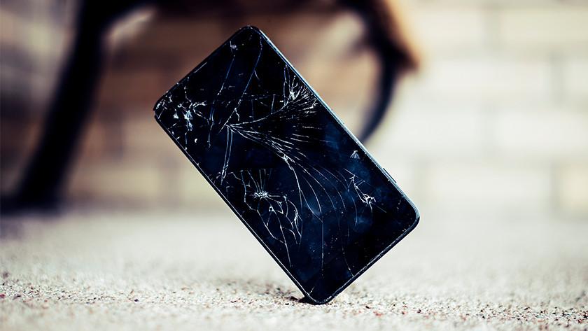 Gebroken scherm smartphone
