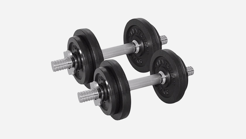 Exercise dumbbells at home