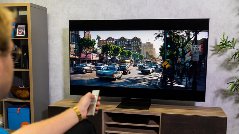 Helderheid en kleuren van de Samsung Q95T