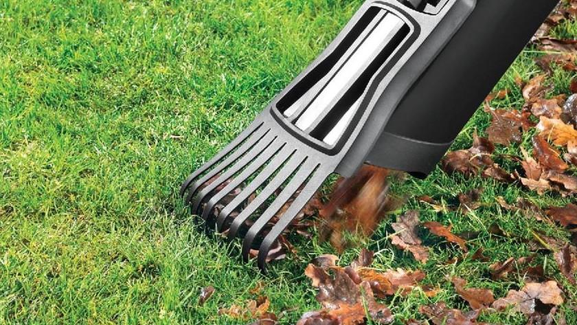 Rake leaf blower